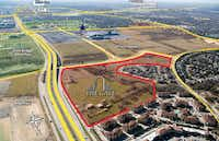 The Gate property is just north of the Dallas Cowboys' new Star development. (Institutional Property Advisors )
