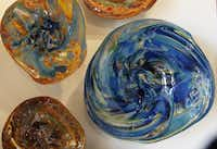 A collection of rondels is on display at David Gappa Vetro Glass Blowing Studio in Grapevine.