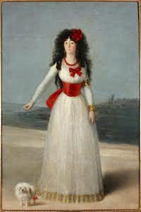 "Francisco de Goya y Lucientes, ""The Duchess of Alba in White,"" 1795. Oil on canvas.Courtesy  -  House of Alba Collection"