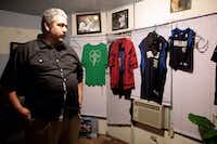 Gustavo Granillo whose son Roendy died of a heat stroke in July talked about how his son was remodeling his room. His things in his room in Haltom City remain as they were before he died. (Maria Olivas/Al Dia)