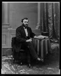 Ulysses S. Grant, photographed by Matthew Brady between 1869 and 1877.