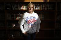 Leanne Rand is hoping to assemble scores of Arlington-area supporters to join her in taking part in a rally next weekend in Austin to protest drops in state funding for education. Rand, a mother of four Arlington Independent School District students, has begun printing T-shirts to distribute to fellow education advocates.