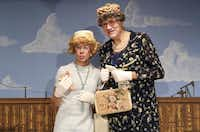 Dwight Sandell (left) as Vera Carp and Terry Dobson as Aunt Pearl are onstage at Theatre Too in One Thirty Productions' 2013 production of Greater Tuna.( Kye R. Lee  -  Staff Photographer )