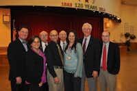 <TypographyTag11>Brandenburg Elementary teacher Grizelle Larriviel</TypographyTag11> (third from right) received the Irving Masonic Lodge Lamar Educator Award.Photo submitted by IRVING MASONIC LODGE<219,4,200>