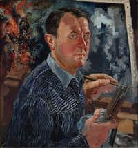 George Grosz painted a self-portrait in 1936.