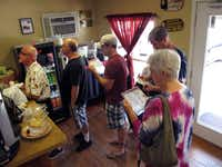 Customers wait in line to order at Gatlin's BBQ in Houston on June 2, 2012, our second stop of the day and sixth stop overall on the Gulf tour. Gatlin's is a top-rated Houston joint, just a few miles from downtown.