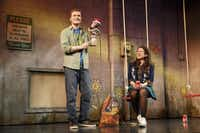 Steven Boyer and Sarah Stiles in a scene from Robert Askins' HAND TO GOD on Broadway.( Joan Marcus  -  Joan Marcus )