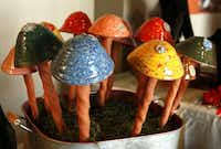 Garden mushrooms by Lynn Wilkes Armstrong of Both Hands Studio