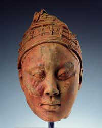 Head, Possibly a King Ife culture, southwestern Nigeria, Africa; Terracotta with residue of red pigment and traces of mica; h. 10 ? in. (26.7 cm) Acquired in 1994