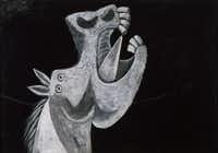 """""""Head of a Horse, Sketch for 'Guernica',"""" is from May 2, 1937, the same year Picasso created """"Guernica,"""" one of his most famous paintings."""