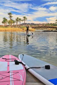 Troll across the oasis of Lake Las Vegas with only kayakers, ducks and dragonflies for company on a Stand Up Paddle-board (SUP).  Paddle to the Core at the Westin there offers SUP fitness classes including yoga, Pilates and a ÒdashÓ class - all on the core-challenging board.