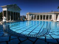 Ancient Roman columns, dating from the first to fourth centuries, surround the Hearst Castle's Neptune Pool, on newspaper publisher William Randolph Hearst's 165-room estate in San Simeon, Calif.