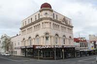 Hobart's downtown is a curious mixture of 1960s-era office blocks refurbished Edwardian-era buildings like this one.
