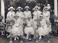 Graduating in a white dress was tradition at the Hockaday School in 1918 for these young women, and the 101-year-old dress code was upheld for graduation last month despite a request for alternatives.