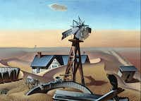 Drouth Stricken Area, 1934 Alexandre Hogue Oil on canvas overall: 30 x 42 1/4 in. (76.2 x 107.315 cm) Dallas Museum of Art, Dallas Art Association Purchase
