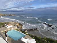 The deck of Birkenhead House on South Africa's Walker Bay is a popular spot for sunbathers and whale-watchers.