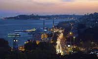 Gaja Restaurant atop Swissotel in the Bosphorus offers memorable sunset views over Istanbul.