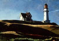 """Lighthouse Hill,"" 1927, Edward Hopper, American, oil on canvas 29 1/16 x 40 1/4 inches"