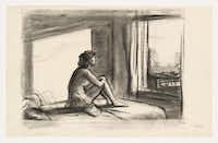 Study for Morning Sun, 1952 Edward Hopper Fabricated chalk on paper, Sheet: 12 x 19in. (30.5 x 48.3cm) Whitney Museum of American Art, New York; Josephine N. Hopper Bequest 70.244 © Heirs of Josephine N. Hopper, licensed by Whitney Museum of American Art, N.Y.