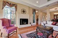 Before: Lindsay Hollmuller changed the color scheme and window treatments after she and her husband bought the house.