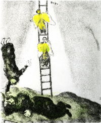 """Marc Chagall, """"Jacob's Ladder,"""" 1957, from the Collection of the Haggerty Museum of Art at Marquette University, Milwaukee, Wisc."""