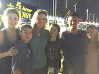 The Robertsons first met their newly adopted son Rowdy, second from left, at last year's Duck Commander 500 race. (Korie Robertson)