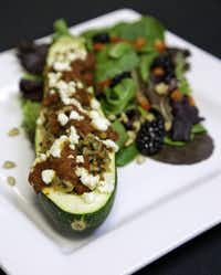 Nancy Maslonka, executive chef at Medical City Dallas Hospital, created Brown Rice Stuffed Zucchini Boats.(Terry Cockerham - Terry Cockerham)