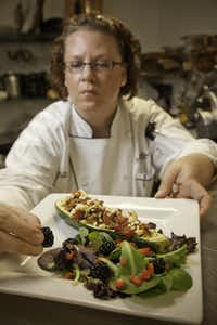 Nancy Maslonka, executive chef at Medical City Dallas Hospital, will teach kids and their parent how to prepare healthy meals, including Brown Rice Stuffed Zucchini Boats.(Terry Cockerham)