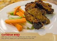 Caribbean chicken wings are among the featured items available at In the Sack. A serving goes for $7.96.handout - handout