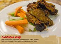 Caribbean chicken wings are among the featured items available at In the Sack. A serving goes for $7.96.(handout - handout)