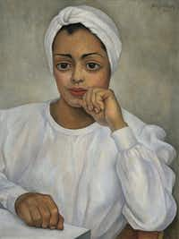 Irma Mendoza, 1950 by Diego Rivera Oil on canvas. 28 x 19-­‐5/8 in.  Collection of Andrés Blaisten. Reproduced with the kind permission of Fundación Andrés Blaisten.
