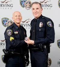 Sgt. Mark Michniacki and Chief Larry Boyd
