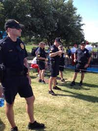 About 50 Irving police officers provided security at the HP Bryon Nelson Championship at the Four Seasons.Photo by DEBORAH FLECK  -  DMN