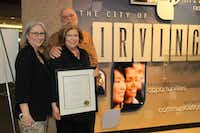 Janice Carroll was honored with the Irving High Spirited Citizen Award.Photo submitted by CITY OF IRVING