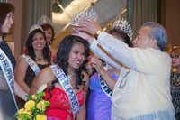 Jeanette McIntosh of Forney is crowned Ms. Philippines Independence Day at the celebration of the 116th anniversary of Philippine Republic Day at the Westin Park Central in Dallas.Jarvis Jacobs