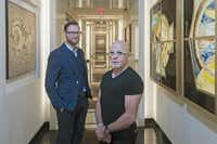 Michael Tregoning (front), chief executive of the Headington Cos., and Joule general manager Justin Fields are now working on opening Americano, an Italian restaurant designed to evoke the feel of informal gatherings.(Rex C. Curry - Special Contributor)