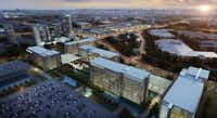 KDC is building JPMorgan Chase's 1 million-square-foot, more than $300 million Plano office campus, shown here in an artist's rendering.( KDC )