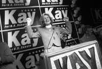 Sen. Kay Bailey Hutchison celebrated her landslide victory in the 1994 election at the Grand Kempinski Hotel.