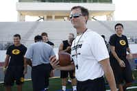 Jeff Jordan, head football coach at Garland High School, runs a football practice at Williams Stadium in Garland, Texas, Thursday, Aug. 22, 2013. Coach Jordan says he has noticed that athletes who are striving to build muscle, but are not getting results, often are not getting enough sleep.