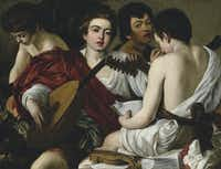 The Musicians, c. 1595, oil on canvas by Caravaggio