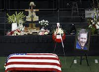 Former Navy SEAL Chris Kyle's memorial service was held on Monday, February 11, 2013 at Cowboys Stadium in Arlington, Texas.