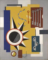 """Fernand Léger, """"Composition,"""" 1923-1927. Oil on canvas.( Collection of Nancy Lee and Perry Bass )"""