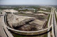 Aerial photograph of development of new Liberty Mutual campus in Plano. (G.J. McCarthy/The Dallas Morning News)