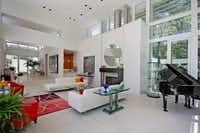The home's very white, very chic sitting room.(Dave Perry-Miller & Associates)