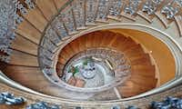 The home has a winding staircase that leads to the third floor.(Steve Reed)