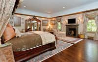 The master bedroom has its own fireplace.(Steve Reed)