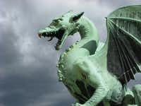 Of the many bridges across the Ljubljanica River, few are as distinctive as the Dragon Bridge, guarded by four of these.