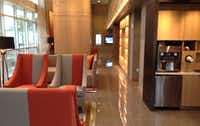 The high-rise on Routh Street has a lobby coffee bar. (Steve Brown/Staff)
