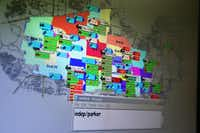 A map on a computer screen inside the dispatch center in the Plano Municipal Center shows all active fire and police units.Andy Jacobsohn  -  Staff Photographer