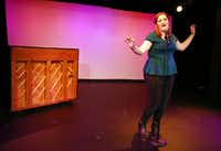 "Kathryn Taylor Rose recounts dating disasters in her one-woman cabaret ""Love Me Tinder,"" which is part of the Festival of Independent Theatres at the Bath House Cultural Center.( Allison Slomowitz  -  Special Contributor )"